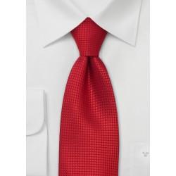 Bright Red Silk Tie for Kids