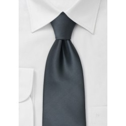 Kids Necktie in Smoke Gray
