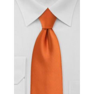 Solid Mens Tie in Persimmon Orange