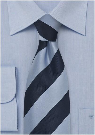 f1602b61fe5f Wide Striped Tie Navy Light Blue