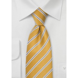 Golden Yellow and Gray Necktie
