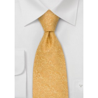 Paisley Tie in Yellow