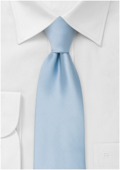 Solid Light Blue Kids Necktie