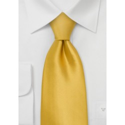 XL Golden-Yellow Silk Tie