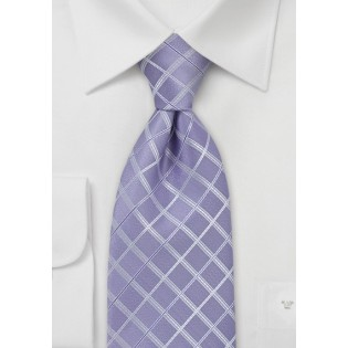 Light Purple Checkered Tie