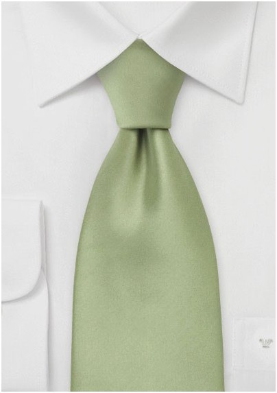 Solid Tea Green XL Tie