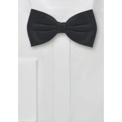 Handmade Silk Bow Tie in Black
