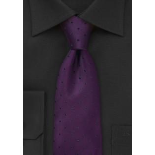 Eggplant Purple Polka Dot Tie