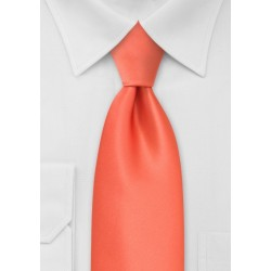 Dark Tangerine Orange Necktie