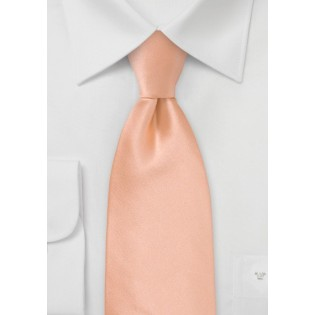 Solid Silk Tie in Coral Peach