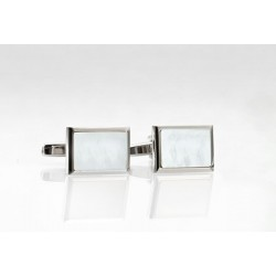 Modern Mother of Pearl Cufflinks