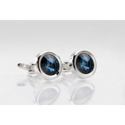 Cufflinks in Blue Diamond Look
