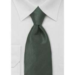 Elegant Dark Green Mens Tie
