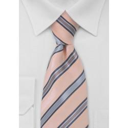 Puccini Peach and Blue Striped Tie