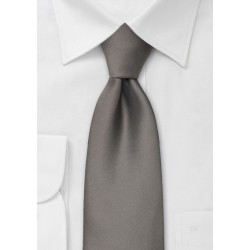 Solid Gray Kids Tie