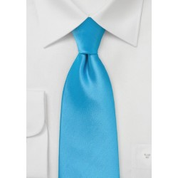Solid Cyan Blue Kids Tie