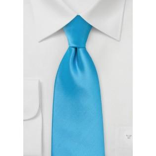 Solid Cyan Blue Kids Tie
