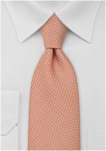 Light Orange Foulard Necktie