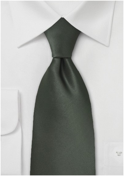 Dark Green Mens Necktie