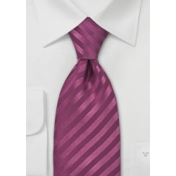 Wine Red Silk Tie