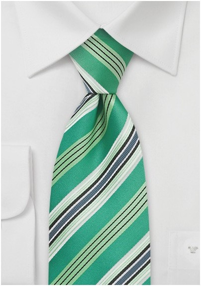 Kelly Green Striped Tie