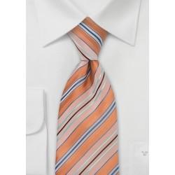 Orange, Blue, Turquoise Tie