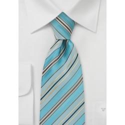 Pool Blue Striped Necktie