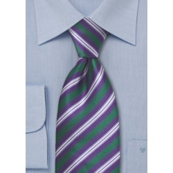 Dark Green and Purple Tie