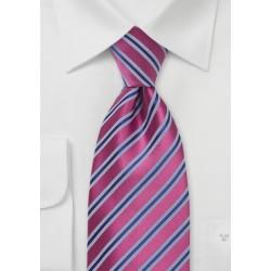Dark Watermelon - Royal Blue Tie