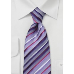 Modern Wisteria Striped Tie