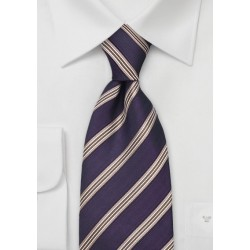 Dark Eggplant Purple Silk Tie