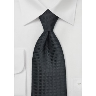 Festive Black Silk Tie