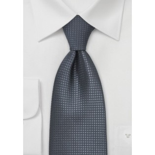 Dark Gray Silk Tie
