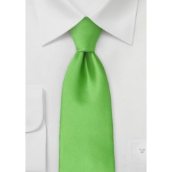 Bright Kelly Green Necktie