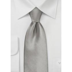 Solid Mercury Silver Necktie