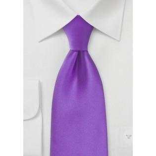 Solid Bright Purple Necktie