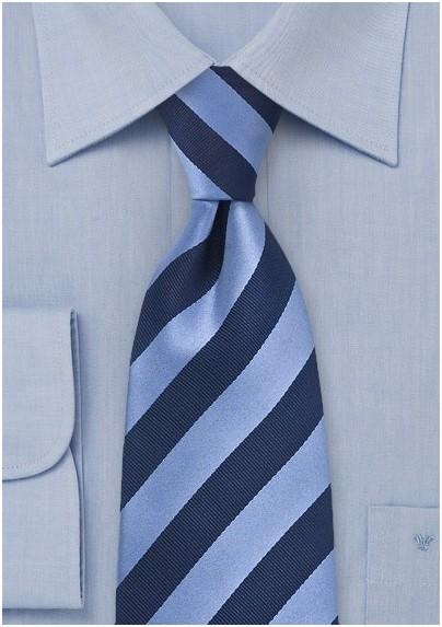 Classic Navy Striped Tie