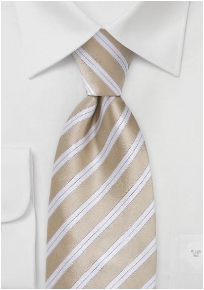 Sweet Almond Striped Tie