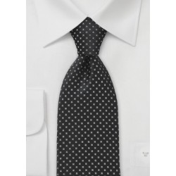 Black and Graphite Patterned Tie