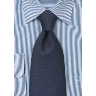 Textured Midnight Blue Tie