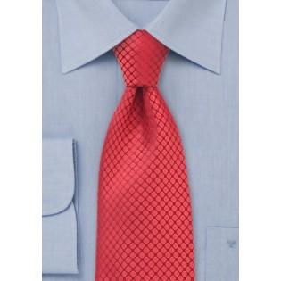 Red XL Silk Designer Tie