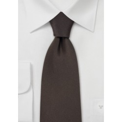 Kids Silk Tie in Dark Brown