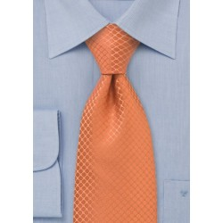 Trendy Orange Silk Tie for Kids