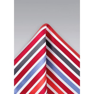 Primary Striped Pocket Square