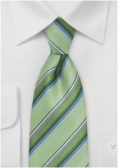 Tonal Green Striped Tie
