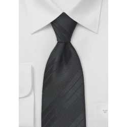 Textured Black Striped Tie