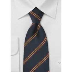British Repp Tie in Navy