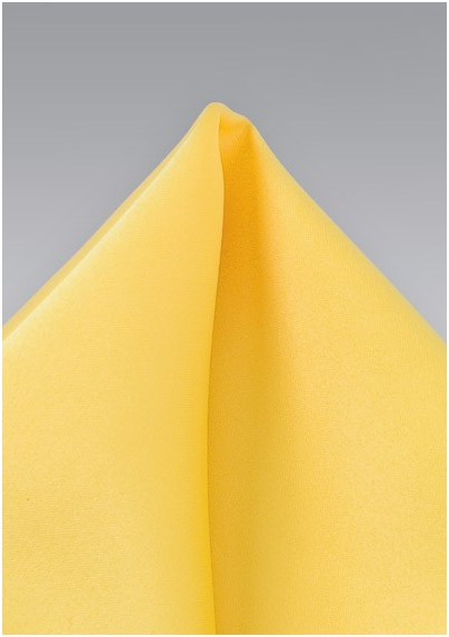 Bright Yellow Pocket Square