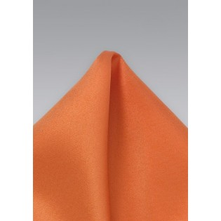Persimmon Orange Pocket Square