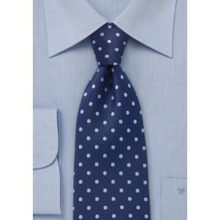Polka Dot Tie in Two Blues